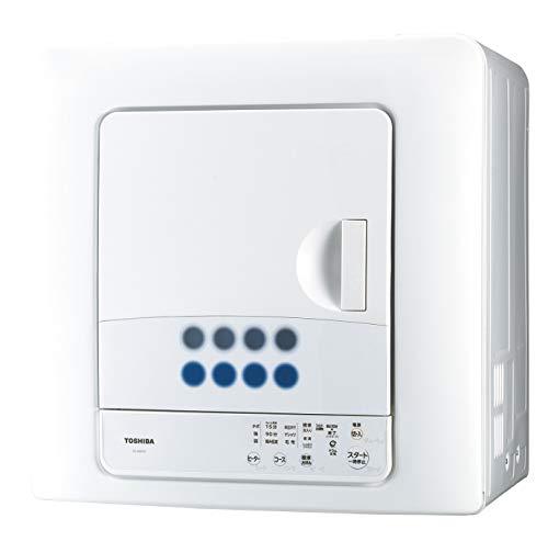 東芝(TOSHIBA) 衣類乾燥機 6.0㎏ 花粉フィルター搭載 ED-608-W ピュアホワイト