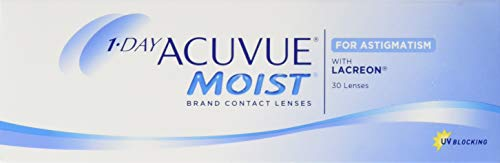 Acuvue 1-Day Moist For Astigmatism Tageslinsen weich, 30 Stück / BC 8.5 mm / DIA 14.5 mm / CYL -0.75 / ACHSE 140 / -0.5 Dioptrien