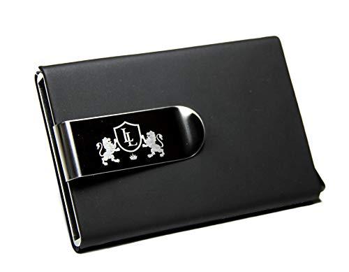 Kartenetui mit Geldklammer - Kreditkartenetui mit Geldclip - Geldbörse mit RFID Schutz für Damen und Herren - EC Kartenetuie mit Geldscheinklammer Aluminium
