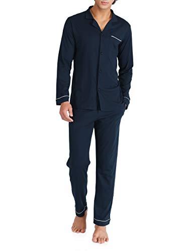 David Archy(デヴィッド・アーキー)メンズ パジャマ ルームウェア 開襟 綿100% 前開き 上下セット 調整...