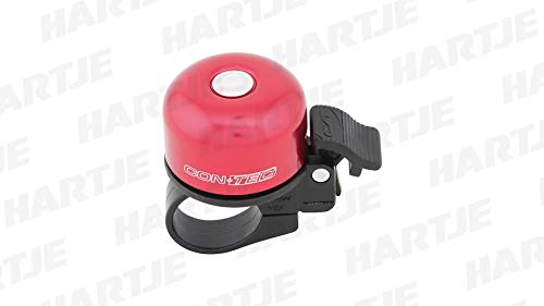 Contec mini-klok, voor fiets, kleur Riot Red