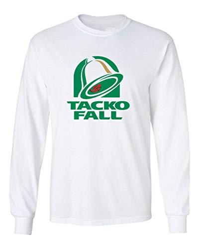Long Sleeve White Boston Tacko Bell Logo T-Shirt Adult
