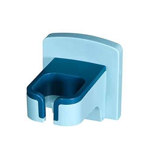 N-R Estante De Almacenamiento Autoadhesivo Sin Perforaciones para Secador De Pelo para El Baño del Hogar Azul