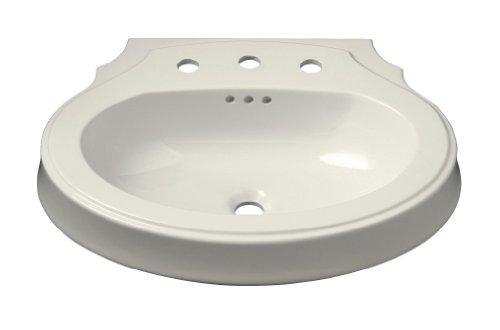 KOHLER K-2327-1-96 Leighton Lavabo de baño con taladro de grifo de un solo agujero, 27 x 20 pulgadas, galleta