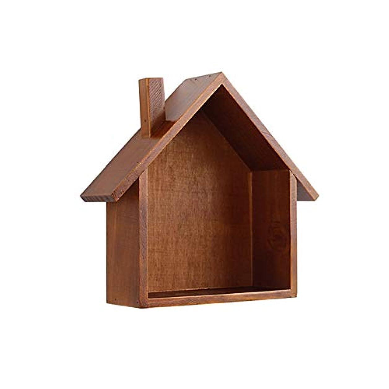 ターミナル冷える突然Kth ヴィンテージ茶色の木製の家の壁の棚多機能ストレージオーガナイザーをぶら下げている創造的な格子の壁