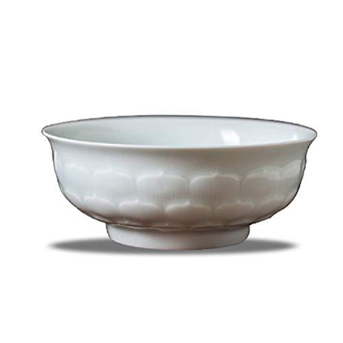 Schüssel Chinesische Art-keramische Nachtisch-Reis handgemalte Lotos 5,5 Zoll (Color : 6912001000)