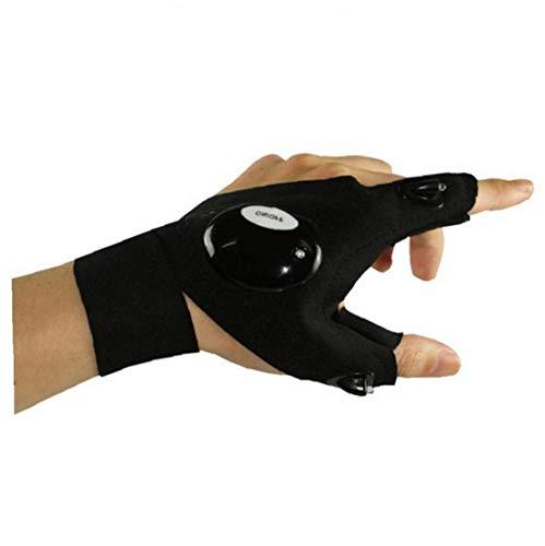 One-Pack-LED-Taschenlampe Angeln Handschuhe Taschenlampe Handschuh mit Zauberband für Outdoor-Aktivitäten Rettung Angeln Camping Left Hand