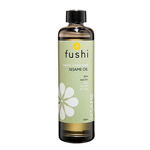 Fushi Organic Sesame Oil 100ml | Virgin & Fresh-Pressed |Rich in Vitamin E, B & Complex Minerals | Best for Scars, Dry Skin & Fine Lines | Ethical & Vegan | Manufactured in the UK