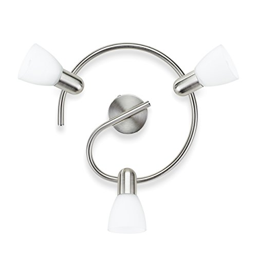 Philips Lighting Matt Chrome Spot Light Burlap Lampada Faretti a spirale 3 Luci Orientabili, Bianco, 3 x 40 W