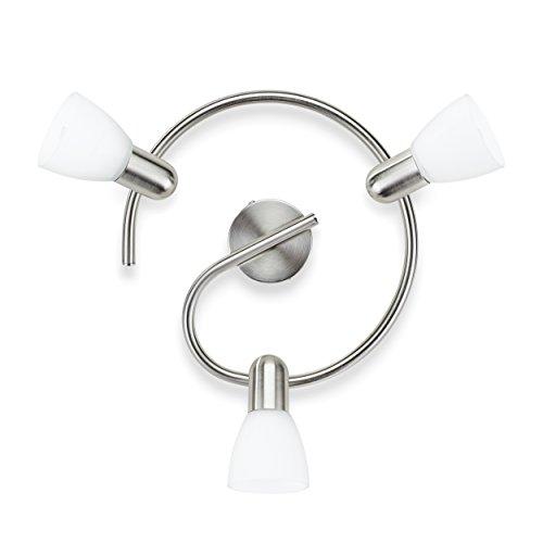 Philips Lighting Burlap Lampada Faretti a Spirale 3 Luci Orientabili, Lampadina Non Inclusa, Bianco, 3 x 40 W