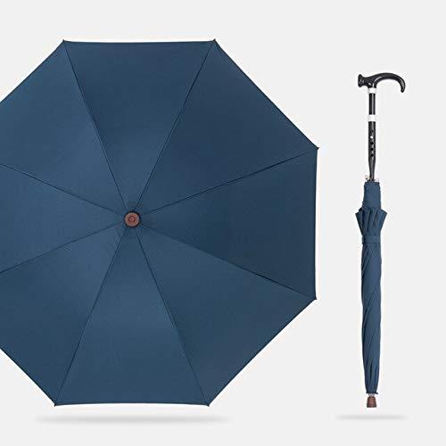 NJSDDB Paraplu, grote paraplu voor mannen, sterke winddichte rug, lange handgreep, in hoogte verstelbaar, wandelstok, paraplu voor heren