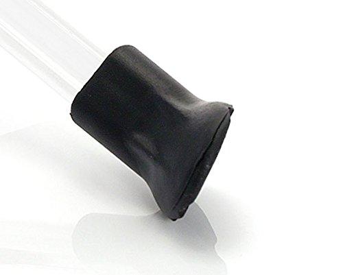 XLC Unisex– Erwachsene KS-X01 Gummifuß für Seitenständer KS-S01, Schwarz, Einheitsgröße