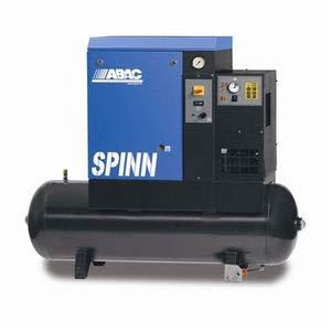 Compresseur d'air rotatif à vis réservoir 500 litres 20 CV triphasé 10 bar avec sécheur ABAC