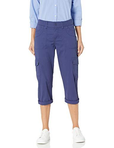LEE Women's Relaxed Fit Austyn Knit Waist Cargo Capri Pant, Ink Blue, 6