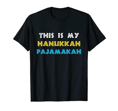 Funny Chanukah Pajama Shirt - This is My Hanukkah Pajamakah T-Shirt