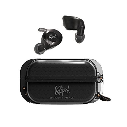 klipsch android earbuds Klipsch T5 II True Wireless Sport Earphones in Black with Dust/Waterproof Case & Earbuds, Best Fitting Ear Tips, Ear Wings, 32 Hours of Battery Life, and Wireless Charging Case