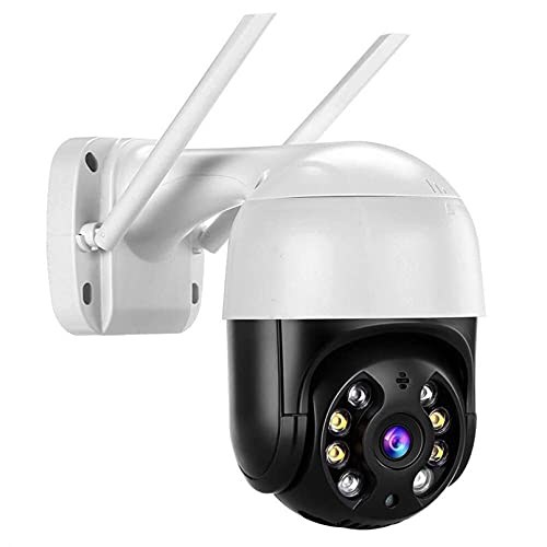 ZJ Cámara De Rotación PTZ WiFi Cámara IP Zoom Digital Exterior AI Cámara De Detección Humana P2P Audio CCTV Cámara De Vigilancia Inalámbrica(Size:16G RAM,Color:Negro)