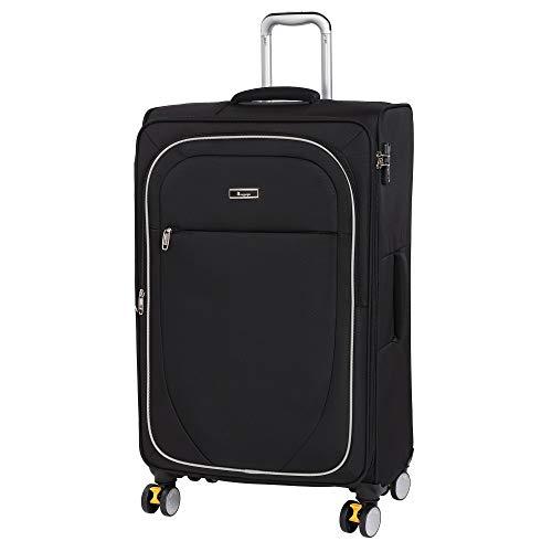 it luggage Lockdown 8 Wheel Lightweight Semi Expander Suitcase Large with TSA Lock Maleta, 82 cm, 126 Liters, Negro (Black)