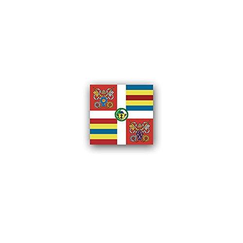 Copytec stickers/stickers - eetbare Zwitserse garde Vatikanstad Vaticaan Armeekorps Guardia Svizzera Pontificia GSP Papst Franpreciscus vlag embleem 7x7cm #A3128