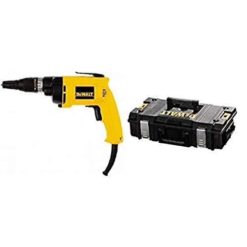DEWALT DW257 6.2 Amp Deck/Drywall Screw Gun with DEWALT DWST08201 Tough System Case, Small
