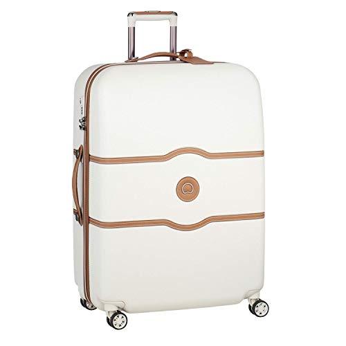 DELSEY(デルセー) スーツケース 機内持ち込み sサイズ おしゃれ キャリーケース かわいい mサイズ/lサイズ 軽量 大容量 シャトレ CHATELET AIR 10年間保証 ストッパー機能なし (112L&ホワイト)