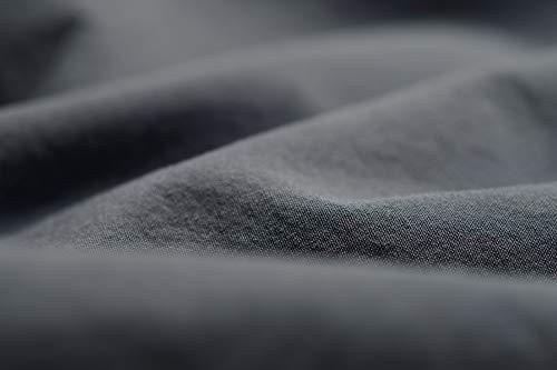 L1NK STUDIO Funda nordica Cama 105 cm Lisa (180x220cm) 100% algodón (Percal 200 Hilos) Gris
