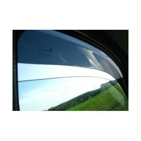 Zentimex Z900430 Windabweiser Regenabweiser Acrylglas Dunkelgrau Für Vorne Und Hinten Auto