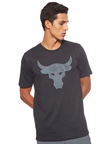 Camiseta Under Armour Project Rock Bull Masculina - Preto e Cinza - M