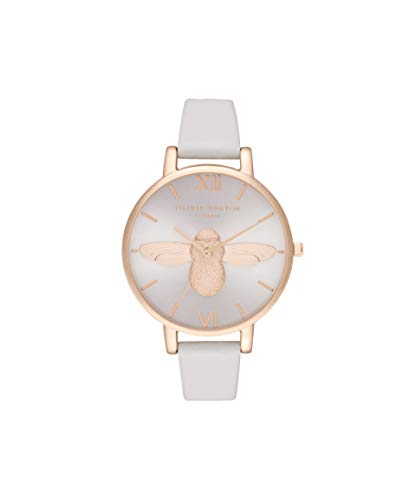 Olivia Burton Damen Analog Quarz Uhr mit Leder Armband OB16AM158