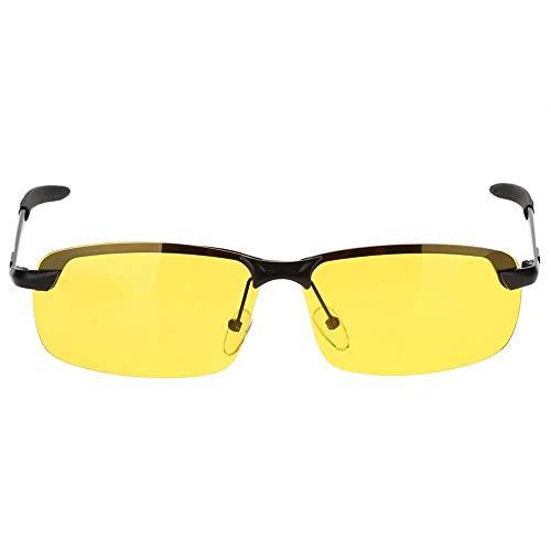 Gafas Nocturna   Gafas de sol - Para la pesca   Conducción nocturna   Reducción de riesgos   Antideslumbrantes   Protección UV400 de Ojos   HD Vision nocturna   Marco de metal   Ultra Light   Unisexo