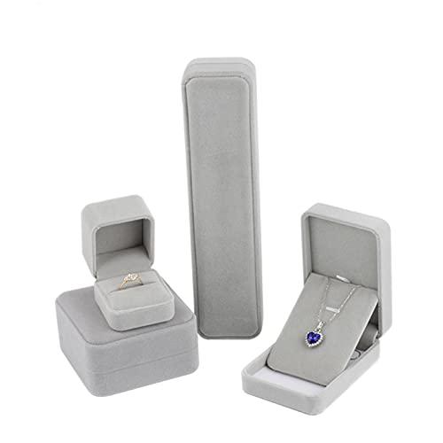 Estuche PortáTil Para Pendientes Mini Pantalla Mujer Mini Caja Almacenamiento Portable JoyeríA Para Cadenas, Pulseras Y Pendientes, Para Guardar Joyas, CumpleañOs, Bodas O Aniversarios (Gris)