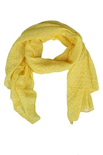 Zwillingsherz Seiden-Tuch Damen stylisches Muster - Made in Italy - Eleganter Sommer-schal für Frauen - Hochwertiges Seidentuch/Seidenschal - Halstuch und Chiffon-Stola Dezent - gelb
