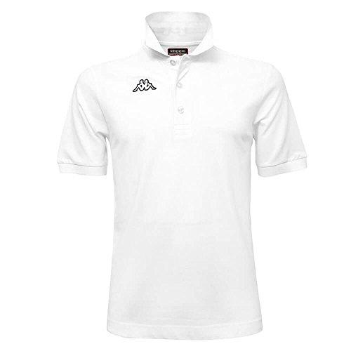 Kappa Polo Uomo T-Shirt piquet Mare Sport Tennis Calcio 302S1U0 2018 Logo Life Taglia L Colore Principale White-Black