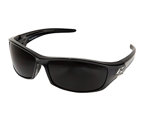 Edge Eyewear SR116 Reclus Safety Glasses, Black with Smoke Lens