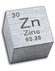 Cubo De Metal De Zinc Puro De 10mm 99,99% Tabla Periódica Grabada para Experimentos, Colecciones De Elementos O Regalos