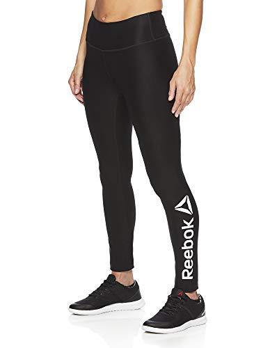 Reebok Women's Legging Full Length Performance Compression Pants - Black Midnight, X-Small
