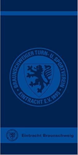 Eintracht Braunschweig Handtuch, Duschtuch, Strandtuch, Badetuch Logo (70 x 180 cm)