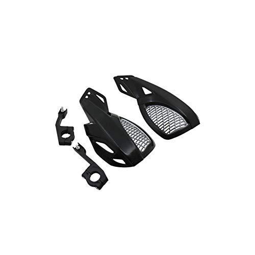 Protector protector protector protector de mano para moto de 24 cm para Kawasaki Suzuki Honda Yamaha Moto MTB con kit de montaje (negro)