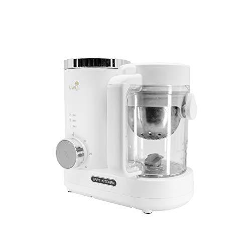 Kiwy Columbus BT6001,Cuocipappa, Robot da cucina, Multifunzione 4 in 1, Mixer, Cottura a vapore, Frullatore, Sterilizza, Riscalda, Scongela, Timer,Bianco