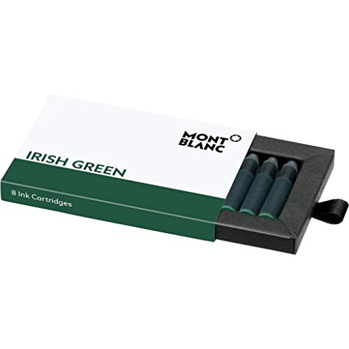 Montblanc 106274 Cartuchos de tinta de alta calidad Irish Green – Lujosas recargas para pluma, 8 x paquete