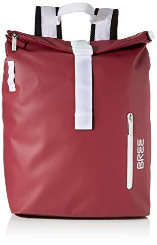 BREE Unisex-Erwachsene PNCH 713 backpack M Rucksack, Rot (Rhododendron), 15x42x34 cm