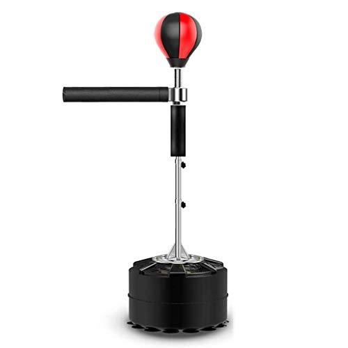 XFENG Freistehende Schwere Training Boxsport-Ball mit Reflex Bar, Erwachsene & Kinder Feste Geschwindigkeit Boxsack, verstellbar in Höhe, Easy Setup & StressRelief & Fitness (Farbe : Schwarz)