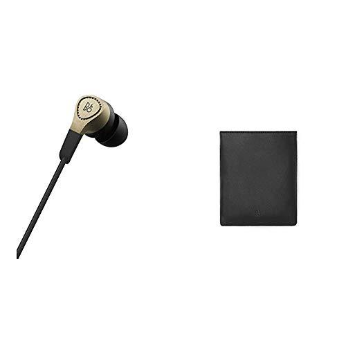 Bang & Olufsen Beoplay H3 In-Ear Kopfhörer, champagne grey + Lederbeutel für Kopfhörer Schwarz