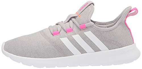 adidas Women's Cloudfoam Pure 2.0 Running Shoes, Grey/White/Screaming Pink, 8
