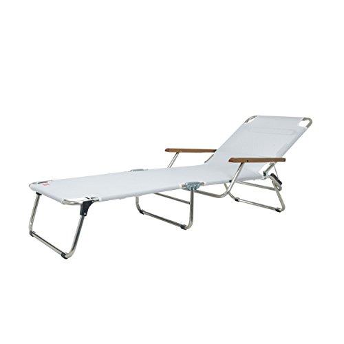 Jan kurtz amigo chaise longue avec accoudoirs-argenté francesco favagrossa aluminium, textilène (fibres de polyester gainées de pVC) imperméable et anti-uv bleu piscine