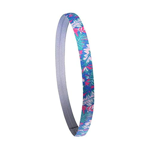 Stretch Bands Yoga Band Sport Zweet Hoofdband Elastische Fietsen Hardlopen Print Haarband Silicone Antitranspirant Sport Haar Band Yoga Accessoires Yoga Band