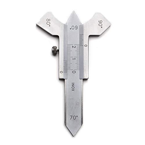 Necygoo Weld Gauge Set 0-6mm Porosity Undercuts Checking Gauge with 0-20mm Convexity Concavity Welding Gauge Stainless Steel Metric Measurement for Welding Inspection