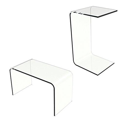 Lavish Home 80-ACRYL-DSK End Table, Clear