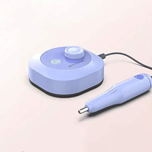 Elektrische Maniküre Bohrdateien Kit Pedicure Maschine Set-Werkzeug-Berufs Geschwindigkeit Einstellbare Electric Pen Typ Werkzeugschleifmaschine Nagellackentferner,Lila