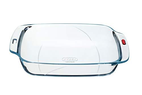 Pyrex Reflections - Irresistible Medium Glass Rectangular Roaster High Heat Resistance- L33 x W23 x H6 cm, 2.6L (Kitchen & Home)